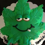 Seattle-Washington pot-leaf-smoking-custom-cake