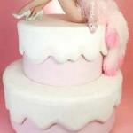Pink-shiffon-Las-Vegas-show-girl-popout-Icing-dripping-cake-37