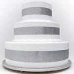 Seattle-Washington silver pop out four feet high four feet round cake