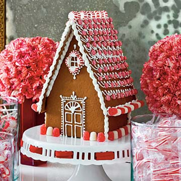 Delaware red roof christmas ginger bread house and candy