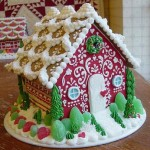 Indiana-Indianapolis Red-front-Christmas-custom-gingerbread-house