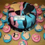 Atlanta-Georgia-Bachelorette-cupcakes-cake-combo