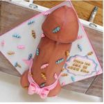 Florida-Miami-Beach-Gift-Wrapped-Baby-Doll-Dick-cake